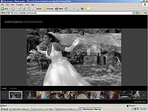 Screenshot of photographer Chris Ramirez's official website