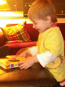 He loves his new scanmotion book from R, D, C & P