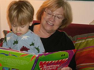 Bedtime reading material in pajamas