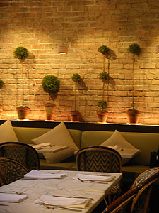 The stylish and serene interior of Ze Cafe, with cuisine to match!