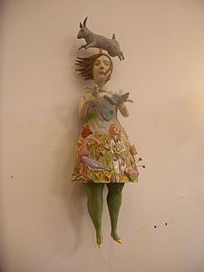 One of the rich works in Kathy Ruttenberg's studio
