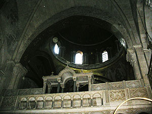 Inside the Church of the Holy Sepulchre, which contains the sites where Christ was crucified, taken down and entombed.