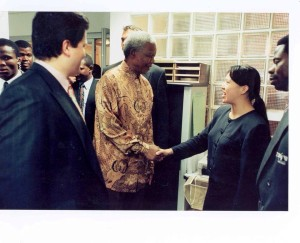 The first time I met Nelson Mandela